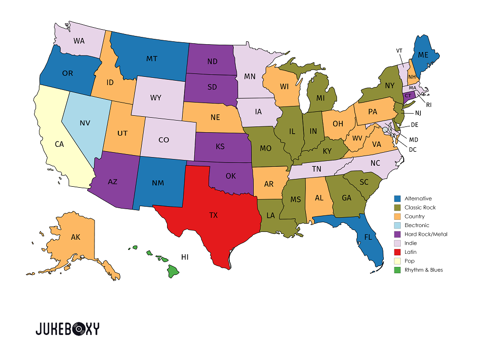 Music Genres By State